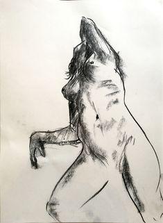 Woman Drawing, Love And Light, Figure Drawing, Charcoal, Portraits, Nude, Cartoon, Fine Art, Female