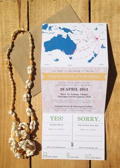 Destination Wedding Invitations  Personalized by MyFrenchSailor, $30.00