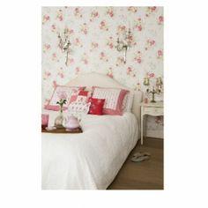 Room Seven Wallpaper Poppies White