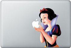 Snow White Apple Laptop Decal