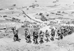 D-Day Plus 1: American soldiers above Omaha Beach, 6/7/1944