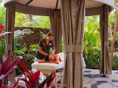 Laniwai, Aulani, Oahu, Hawaii. A place of healing waters: There's a pool for detoxing and a mineral one for revitalization, plus six outdoor rain showers, in the spa's 23,000 square feet.
