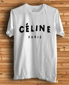 New CELINE Paris Logo Chanel Men White T Shirt Tee by kingclothing, $16.75