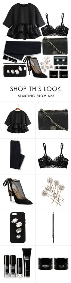 """""""Tiny Dancer"""" by brynhawbaker ❤ liked on Polyvore featuring Chanel, Lands' End, La Perla, Carmen Marc Valvo, CASSETTE, STELLA McCARTNEY and Gucci"""