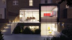 This image is fully computer generated and was commissioned to aid planning permission for the internal/external double height glass wall. As this glass wall is rather an unusual feature to accompany a residential home, the client asked for the visualisation to be featured as a night shot, this enabled the glass feature to stand out and really give an insight into how the scheme will benefit from this development.