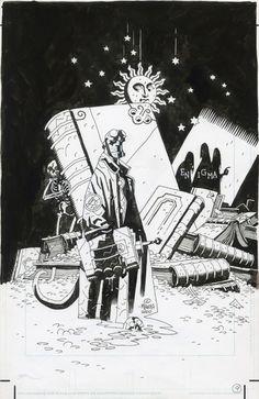 Mike MIGNOLA - Hellboy Enigma by Mike Mignola - Illustration