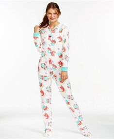 Onesie Pajamas 100 cotton grey star print onesie PUCK Womens All-in-one Pyjamas Frosty Dot Hoodie - Hooded Footed Pajamas - Pajamas Footie PJs Onesies One Piece Adult Onesie Pajamas, Summer Outfits, Cute Outfits, Summer Clothes, Cute Pjs, Floral Jumpsuit, Nice Dresses, At Least, Vestidos