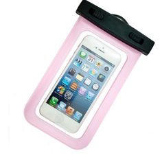 Indo Dealz Waterproof Pouch untuk Handphone MP3 Digital Camera - Pink