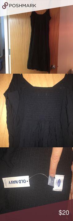 Old Navy Black Spaghetti Strap Dress Brand new spaghetti strap black dress. Great for vacation. Dresses