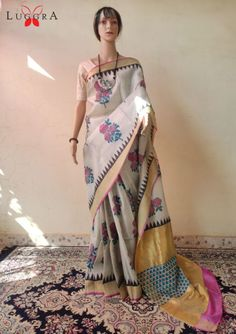 Block Printed Kosa Saree