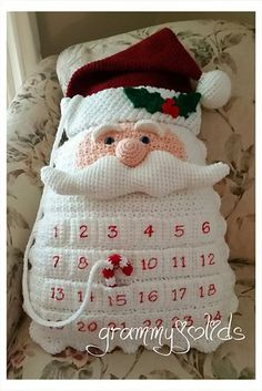 Santa Countdown Pillow - the perfect holiday design for an over eager youngster