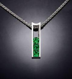collar de Topacio verde joyería de plata por VerbenaPlaceJewelry