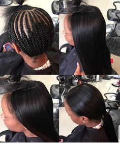 Sew In Hairstyles, Braided Hairstyles, African Fashion Dresses, African Dress, Weave With Leave Out, Weave Styles, Fashion Sewing, Protective Styles, Hair Goals