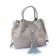Perfect Michael Kors Jules Drawstring Medium Grey Shoulder Bags, Perfect You