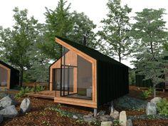 Trendy home office pequeno escandinavo Ideas Cabin Design, Tiny House Design, Modern House Design, Modern Tiny House, Tyni House, Tiny House Cabin, Minimalist Architecture, Architecture Design, Bungalow