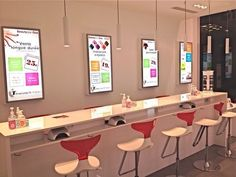 We at are loving this sleek nail salon interior design. It is simple and clean. Home Nail Salon, Nail Salon Design, Nail Salon Decor, Beauty Salon Decor, Beauty Salon Design, Beauty Salon Interior, Salon Interior Design, Beauty Bar, Beauty Salons