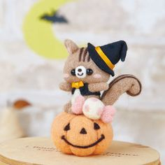 Halloween DIY handmade Wool Felt Kit Pumpkin by 1127handcrafter