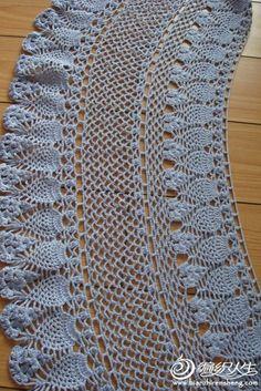 Lace shawl, free crochet pattern