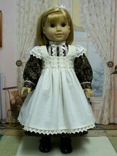 Wish I had.....1910's Fanciful cream colored Pinafore and Frock  by Keepersdollyduds.