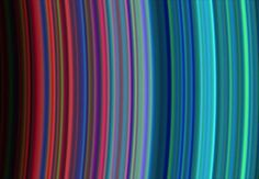 Saturn's Beautiful Rings In order to image the rings in such quality the Cassini spacecraft used its Ultraviolet Imaging Spectrograph in resolution some 100 times that of the Voyager 2 spacecraft.
