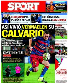 Portada Sport 3/09/2015