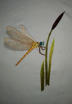 Shirt Embroidery, Gold Embroidery, Japanese Embroidery, Embroidery Scissors, Hand Embroidery Designs, Embroidery Stitches, Embroidery Books, Dragonfly Wall Art, Thread Painting