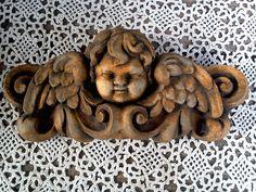 Cherub Angel Plaque, Angle Plaque, Stone, Angel Wall Decor, Garden Decor, Victorian, Spiritual Plaque, Garden Plaque by CottonCreekCottage on Etsy