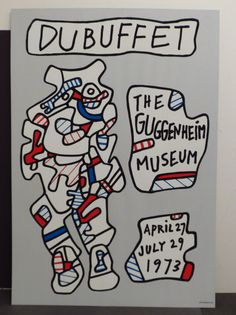 Jean Dubuffet Exhibition Poster Guggenheim Museum 1973 Abstract Figure French | eBay