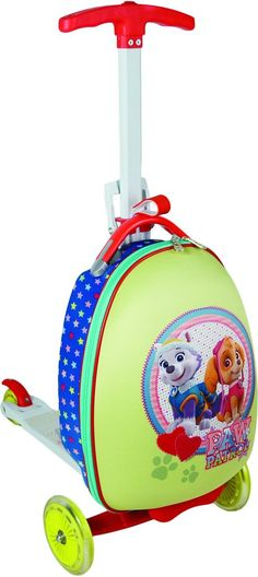 Nickelodeon Paw Patrol 16 inch Girl Pups Children's Scooter Luggage Luggage Brands, Cartoon Shows, Paw Patrol, Travel With Kids, Pup, Children, Travel Bags, Gift, Holiday