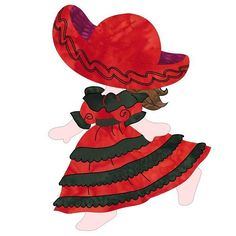 (7) Name: 'Quilting : Sunbonnet Sue In Mexico (2016 BOTM)