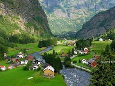 Flam Valley, Aurland, Norway