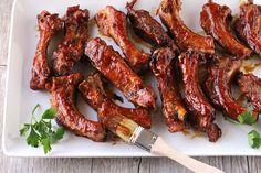 Should be illegal oven bbq ribs recipe - genius kitchen Bbq Ribs, Pork Back Ribs, Ribs In Oven, Rib Recipes, Dinner Recipes, Cooking Recipes, Cooking Ribs, Smoker Recipes, Turkey Recipes
