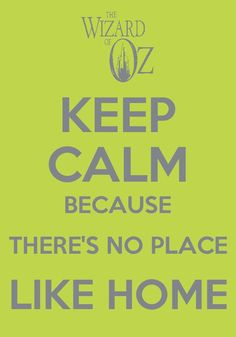 There's no place like home! Which is the theater during show week!