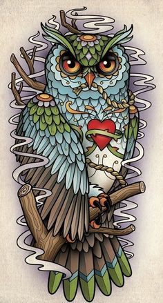 This would make a hella sic owl tatt!