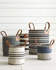 Looking for coastal decor? Be inspired by the sea and learn how to decorate coastal style to create your own breezy & elegant home. Design Tips & Images. Plant Basket, Rope Basket, Basket Weaving, Coastal Style, Coastal Decor, Coastal Living, Rattan, Wicker, Home Crafts