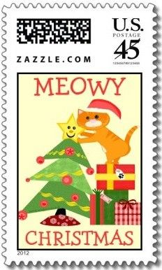 ♥ ◙ U.S.A. Zazzle Christmas Postage Stamp. ◙