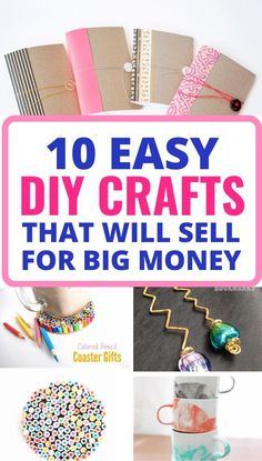 DIY Crafts To Make and Sell Want to make some extra cash? Then try making these BEST diy crafts that will definitely sell! They're all easy and quick to make but our favorite is the pencil coaster. It's genius! Diy Gifts To Sell, Easy Crafts To Sell, Money Making Crafts, Diy Crafts For Kids, Fun Crafts, Indoor Crafts, Recycle Crafts, Craft Ideas, Summer Crafts