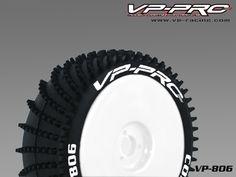 NEW VP806G-RW-UF Condor XX 1/8 Buggy Rubber Tyre[Κολλημένο][Tyre+insert+White Dish Rim] Soft Flexx 1χ Ζευγάρι (1xpair)