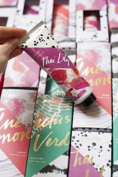 packaging for the lavish hand cremes from illume! -BLOGSHOP ATLANTA