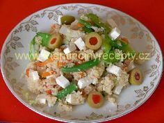 Kuskus se zeleninou a sýrem Potato Salad, Grains, Rice, Potatoes, Ethnic Recipes, Food, Potato, Essen, Meals