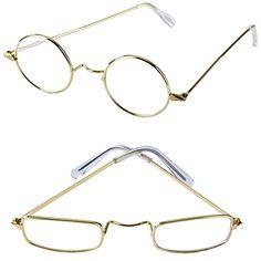 b7cd6fdbe4 Old Man Costume Glasses - 2 Pack - Granny Glasses - Grandpa Glasses - Santa  Glasses