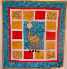 Giraffe Quilt by cosyjo from the quiltingboard.com
