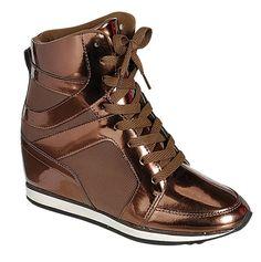 Reneeze KELLY-02 Womens Hidden Wedge Fashion Sneaker - BROWN-5.5