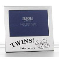 Shudehill x Twins Photo Frame Twice The Love Gift Occasion Present Silver, Size x Twin Photos, Baby Photos, Newborn Gifts, Baby Gifts, Baby Photo Frames, Online Birthday Gifts, Love Twins, Love Gifts, Presents