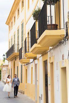 Bride and Groom Ibiza Dalt Villa walk www.ibiza-wedding-photography.com