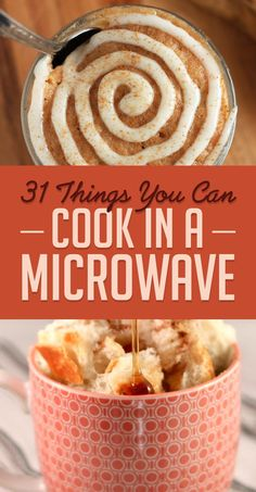 "31 Microwave Recipes That Are Borderline Genius Well, this changes everything. Courtesy of Buzzfeed 1. Microwave Risotto   brit.co So much easier than standing over a stove, ""stirring constantly."" Check out THREE awesome recipes here. 2…"