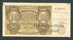CROATIA, 10 Kuna 1941 VF+ Handst. SS DIVISION PRINZ EUGEN , WWII - NDH - USTASA http://cgi.ebay.com/ws/eBayISAPI.dll?ViewItem&item=161151931402