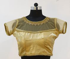Cream Silk Blouse with Stone Work