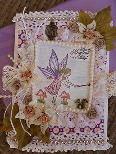 fabric art card on facebook by jansfabfairies