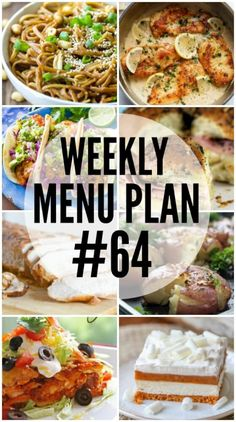 Weekly Menu Plan #64 via @favfamilyrecipz                              …